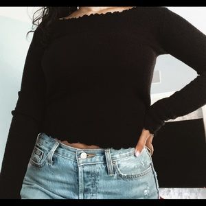 Black long sleeve brandy Melville knit!